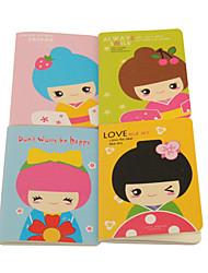 Korean Notebook modèle de poupée (couleurs aléatoires)