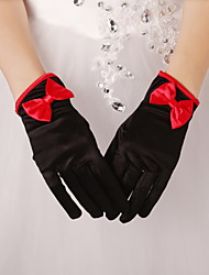 Polslengte Vingertoppen Satijn Bruidshandschoenen/Feest/uitgaanshandschoenen Handschoen