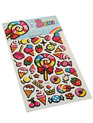 Cartoon lollipop Series Stereo Bubble Sticker