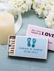 Wedding Décor Personalized Matchboxes - Flip-Flops (Set of 12)