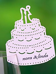 Place Cards and Holders  Cake Place Card For Wine Glass (Set of 12)
