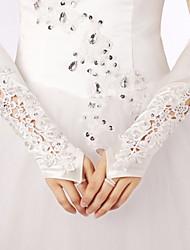 Ellebooglengte Zonder vingers Satijn/Kant Bruidshandschoenen/Feest/uitgaanshandschoenen Handschoen