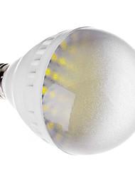 E27 10W 60x5050 SMD 740-800LM 6000-6500K Natural White Light LED Ball Bulb (220V)