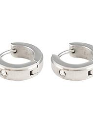 Zircon-clouté Glaçage acier inoxydable Earring