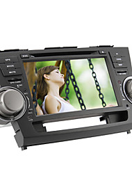 8-inch 2 Din TFT Screen In-Dash Car DVD Player For Toyota Highlander With Bluetooth,Navigation-Ready GPS,iPod-Input,RDS,TV