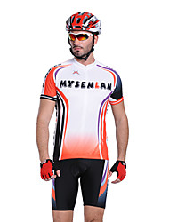 Mysenlan Men's Half Sleeve Bike Breathable Waterproof Zipper Front Zipper Wearable Clothing Sets/Suits Cycling/Bike