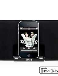 Super-Slim Portable Speaker for iPod and iPhone with 3.5mm AUX (MFi Certificate, Apple 30-Pin Port)