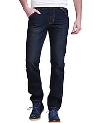 Mediados hombre Moda Rise Straight Jeans Lose