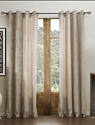 Deux Panneaux Le traitement de fenêtre Moderne , Solide Viscose Matériel Rideaux Tentures Décoration d'intérieur For Fenêtre