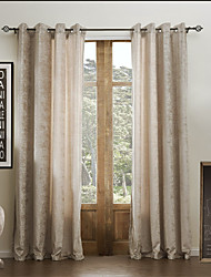 dois painéis de cortina eco-friendly sólido rayon chenille clássico