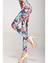 Multicolor Fireworks Pattern Legging