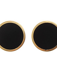 Cloth Round Earrings