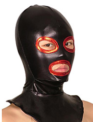 Mask Ninja Zentai Cosplay Costumes Red / Black Patchwork Mask Shiny Metallic Unisex Halloween / Christmas