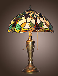 Tiffany Table Light with 2 Lights-Electroplate Finish