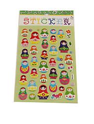 Cartoon Doll Series Stereo Bubble Sticker