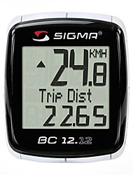 SIGMA Waterproof 12-Function Wired Digital LCD Cycle Computer With 7 Languages (Black) MN81698