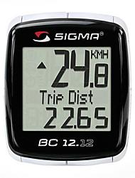 SIGMA 12-Wasserdicht Funktion Wired Digital LCD Fahrradcomputer mit 7 Sprachen (Black) MN81698