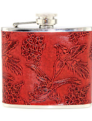 Gift Groomsman Flower And Bird Design 5-oz Flask