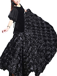 Dancewear Velvet with Flowers Modern Dance Skirt For Ladies