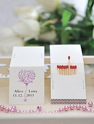 Wedding Décor Personalized Matchbooks - Heart (Set of 50)
