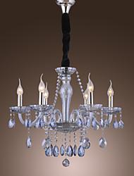Lustre ,  Traditionnel/Classique Rustique Lanterne Globe Retro Plaqué Fonctionnalité for Cristal VerreSalle de séjour Chambre à coucher