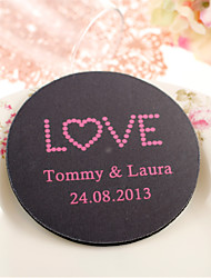 Personalized Wedding Coasters - LOVE (Set of 4)