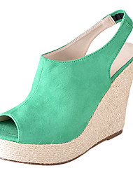 Elegant Suede Wedge Heel Sandals With Casual\Party\Evening Shoes(More Colors)