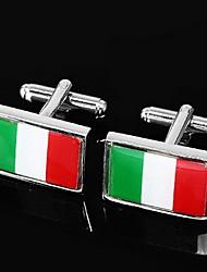 Gift Groomsman Flag Of Italy Design Cufflinks