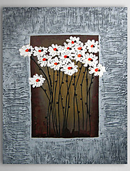 Hand Painted Oil Painting Floral With Stretched Frame 1307-FL0156