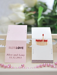 Wedding Décor Personalized Matchbooks - All You Need Is Love (Set of 25)