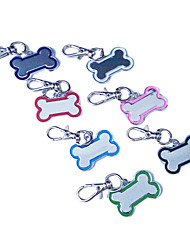 Dog tags Fashionable Bone Shape Style Pet Tag for Dogs (3.5cm,Random Colors)