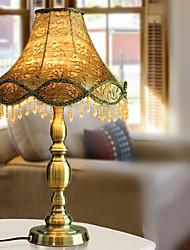 Luxury Table Light with Elegant Fabric Shade Candelabrum Style Body 220-240V