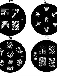 1PCS Nail Art Stamp Estamparia Imagem Modelo Placa M Series NO.3 (cores sortidas)
