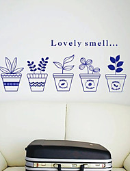 Lovely Smell Flowers Wall Stickers (1985-P53)