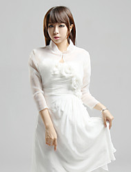 Wedding  Wraps Coats/Jackets Short Sleeve Organza White Wedding / Party/Evening / Casual Capped Clasp
