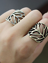 Women's  Hollow Leaf Ring