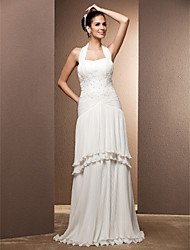 Lanting Bride® Sheath / Column Plus Sizes / Petite Wedding Dress - Chic & Modern / Glamorous & Dramatic / ReceptionTwo-In-One Wedding