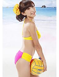 Mädchen sexy Kontrastfarbe Halfter Bikinis