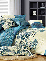 JAJEMON 4PCS 100%Cotton Print Full Duvet Cover Set  1S318670077