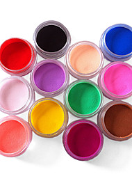 12 Color Nail Art Sculpture Carving Acrylic Powder 73g