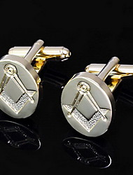 "Gift Groomsman ""Freemason""Cufflinks (More Colors)"