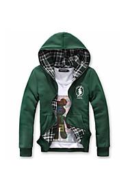 Men's Two Ways Check Hoodie Jacket