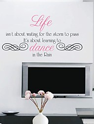 Dancing in the Rain Inspiration Cours Wall Sticker
