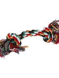 Durable Rough Rope with Double Knots Style Chew Toy for Dogs (Assorted Colors)