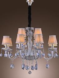 Max 60W Traditional/Classic Crystal Electroplated Glass Chandeliers Living Room / Bedroom / Dining Room / Study Room/Office
