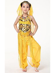 Dancewear Chiffon with Coins Belly Dance Veil For Children More Colors
