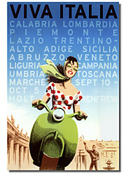 Printed Canvas Art Vintage Viva Italia by Vintage Apple Collection with Stretched Frame