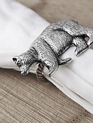 Набор из 6 колец для салфетки с деталью в форме медведя