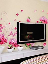 Flower Butterfly Spiral Wall Sticker
