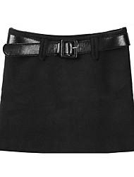 pinklady lã uma saia de linha com cinto